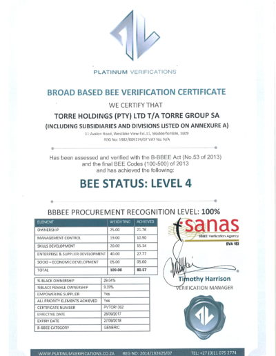 BEE Certificate 2018 Torre Group_Page_1