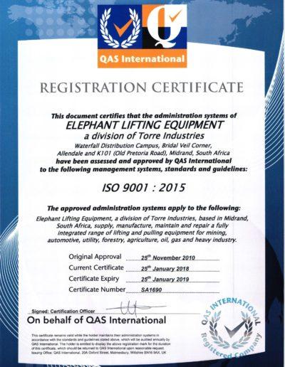 ISO Cert 2018